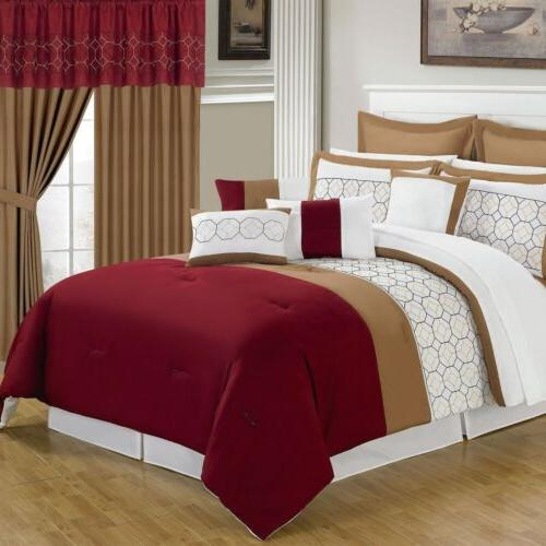 Lavish Home 24 Piece Room-In-A-Bag Sarah Bedroom Set - Queen