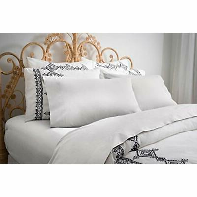 sale percale collection sheet set queen white