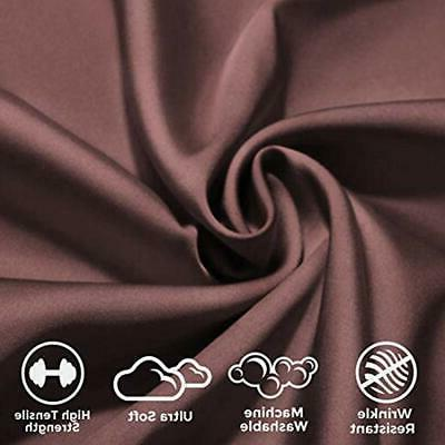 Satin Sheet & Sets Pieces Chocolate Home