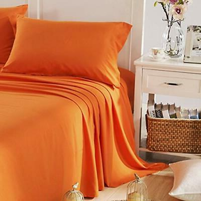 Sheets Pillowcases Brushed Orange Home