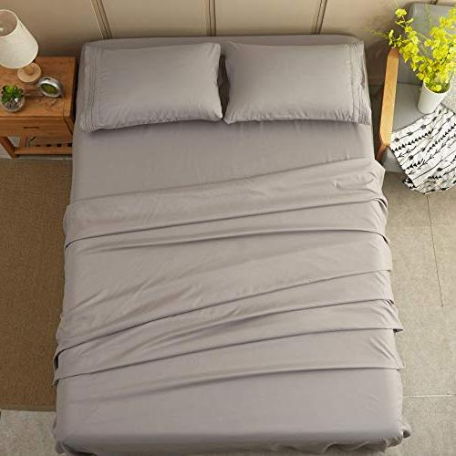Sonoro Sheets Soft Microfiber 1800 Count 16 Inch Grey