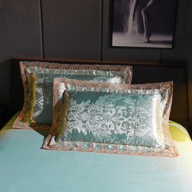 SLOWDREAM Jacquard Luxury Satin Cover Bedspread King Bed Linen Adult