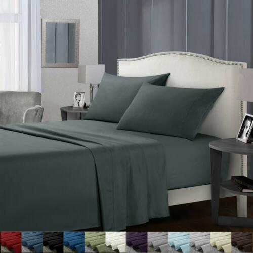 queen egyptian comfort sheets count 4 piece