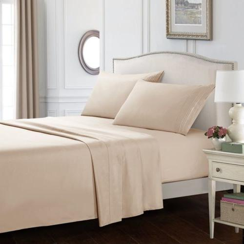 Soft Twin Full Queen King Size Bed Sheets Sets Comfort Deep