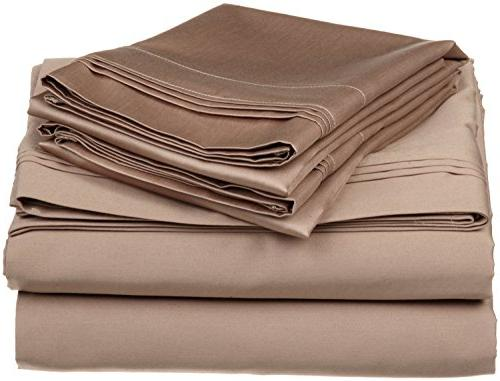 solid taupe 600 thread egyptian