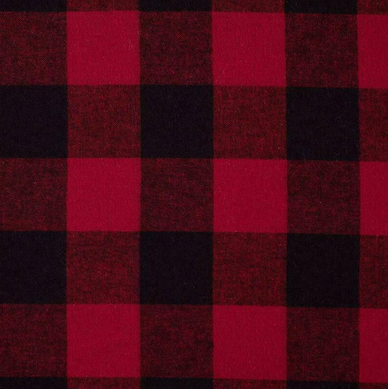 Stone Rustic Buffalo Check Flannel Yarn-Dyed Sheet
