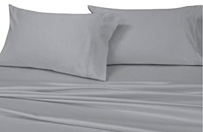 sheetsnthings Solid Grey Queen Set 100% Cotton Thread Count to 22