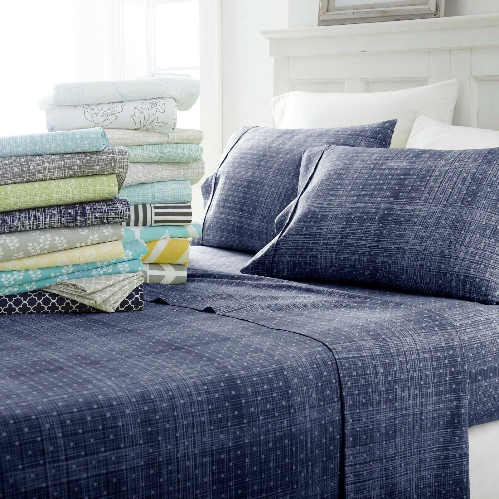 the home collection 4 piece pattern bed