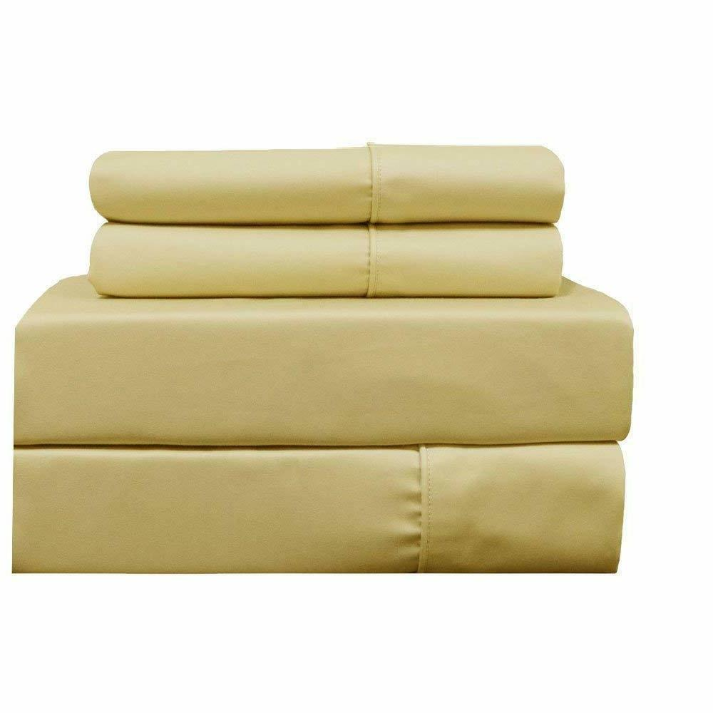 Top_Linens 4-Piece Sheet Set Sateen Count