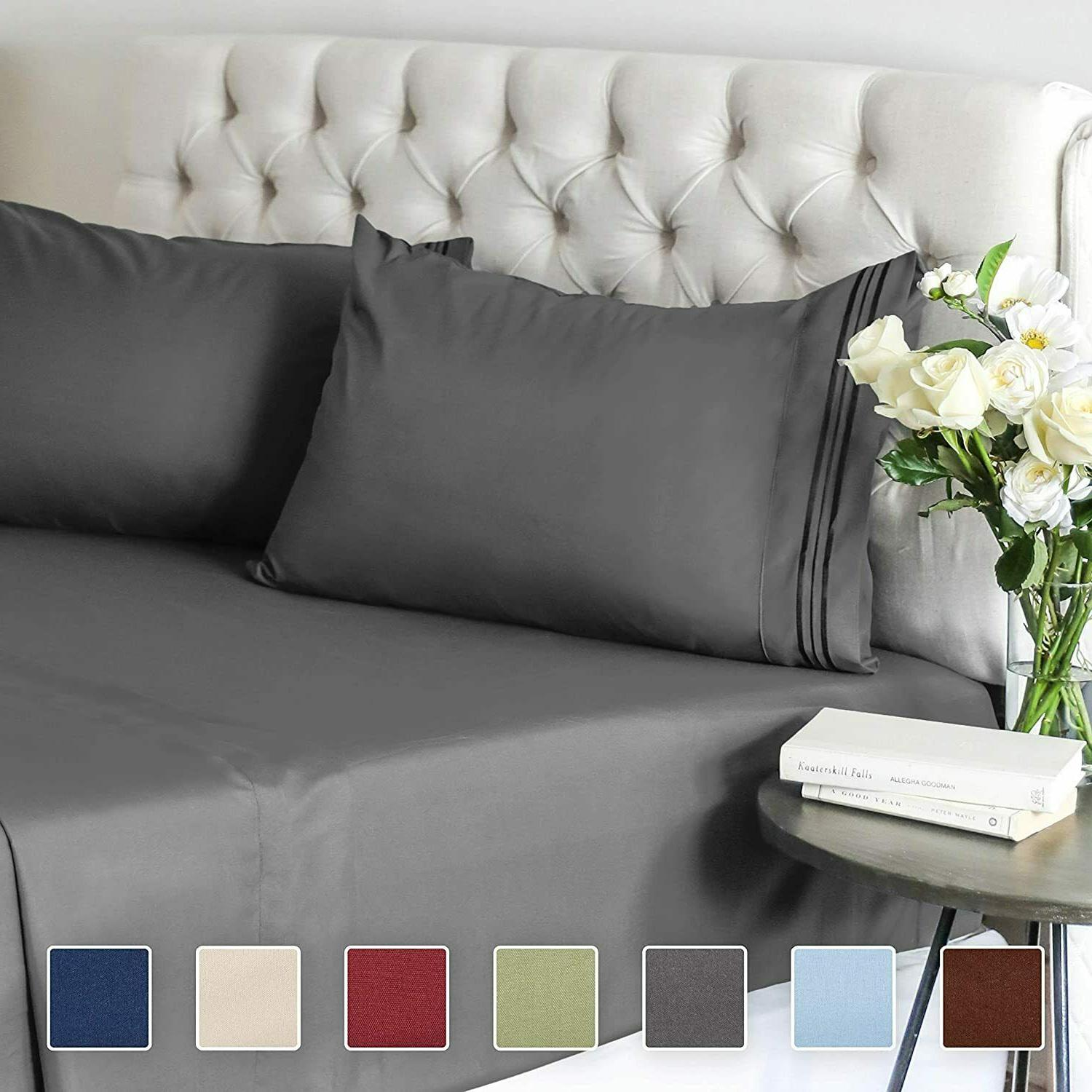 Twin Size Sheet Set - 3 Piece - Hotel Luxury Bed Sheets, Ext