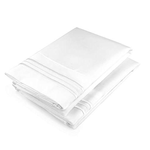 White Pillow Cases Queen Size 2 - Comfortable 20x26 Enclosure Two - Pillow Insert