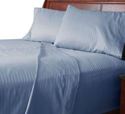 Lavish Home 300 Thread Count Cotton Sateen Sheet Set, Queen,