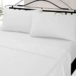 lot of 12 new queen size white hotel flat sheets t-180
