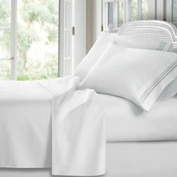 Luxury 1800 Series Clara Clark Bamboo Linen Bed Flat Fitted