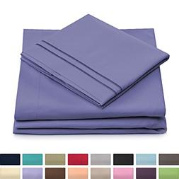 Queen Size Bed Sheets - Peacock Blue Luxury Sheet Set - Deep