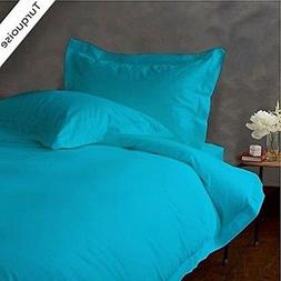 Luxury Linen Bed Sheets Set Turquoise Solid 1000 Thread Coun