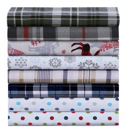 Luxury Cotton Flannel Sheet Set, Deep Pocket Warm Cozy Super