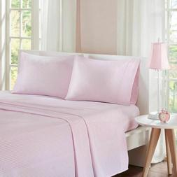 Luxury Pink & White Cotton Percale Gingham Checkered Sheet S