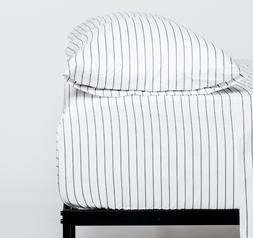 Cosy House Collection Classic Pinstripe Pattern Striped Bed