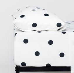 Cosy House Collection Ultra Soft Polka Dot Pattern Bed Sheet