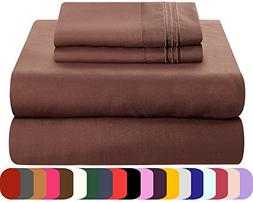 Mezzati Luxury Queen Sheet Set - Soft and Comfortable 1800 L