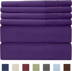 CGK Unlimited Luxury Sheets cal king purple