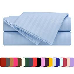Mezzati Luxury Striped Bed Sheet Set - Soft and Comfortable