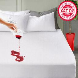 Mattress Pad Cover Protector Queen 100% Waterproof Fitted 8-