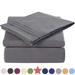 King Size 4 Piece Bed Sheet Set 1800 Bedding 100% Microfiber