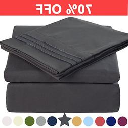 Microfiber Queen Size Bed Sheet Set - Made Of 100% Brushed M