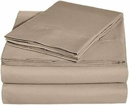 AmazonBasics Microfiber Sheet Set - Queen, Taupe
