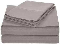 AmazonBasics Microfiber Sheet Set - Queen, Dark Grey