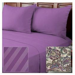 Cozelle Microfiber Solid Striped Paisley 12-Piece Sheet Set
