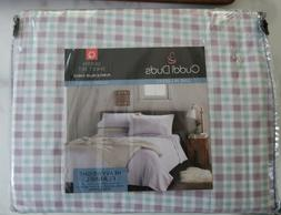 Cuddl Duds NEW Queen Sheets Heavy weight Flannel PURPLE BLUE