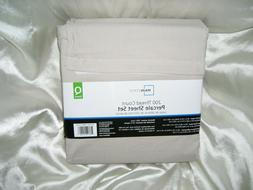 New Queen Size Mainstays 200 Thread Count Percale Sheet Set