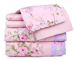 New Six Piece Super Soft Quality Sheets size Queen, King Flo