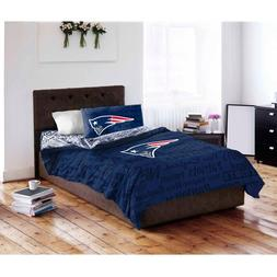 5 Piece NFL Patriots Comforter with Sheets Queen Set, Blue R