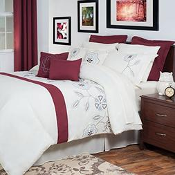 Lavish Home 13-Piece Olivia Embroidered Comforter Set, Queen