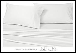 Royal Hotel's Solid White 1000-Thread-Count Super-Deep 4pc Q