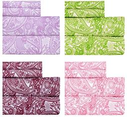 Weavely Paisley Print Best Quality Bedding Sheet Set, Extra