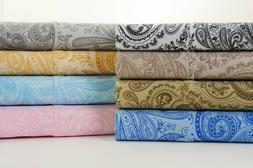 6 Piece: Printed Hotel Luxury Deep Pocket Bed Sheet Set with