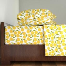 Peach Peachy Summer Fruit Kitchen Home 100% Cotton Sateen Sh
