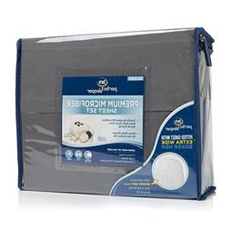 Serta Perfect Sleeper Premium Microfiber Sheet Set - Twin, D