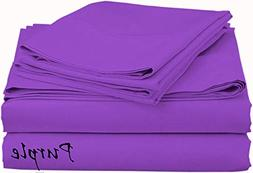 Perfect-Fit Heavy Wight Egyptian Cotton Sheet Set Purple So