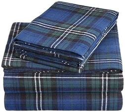 pinzon 160 gram plaid flannel sheet set