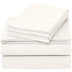 Pinzon Sheets & Pillowcases 170 Gram Flannel Set - Queen, Cr