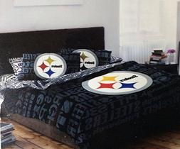 Pittsburgh Steelers Full Size Bed Bedding Set 5 Piece Comfor