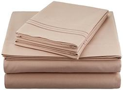 Clara Clark Premier 1800 Series 4pc Bed Sheet Set - Queen, T