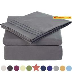 TEKAMON Premium 4 Piece Bed Sheet Set 1800TC Bedding 100% Mi