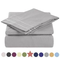 TEKAMON Premium Queen Size 4 Piece Bed Sheet Set 1800 TC Bed